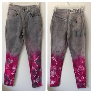 a42989cc60ae8 The RAGGED PRIEST skinny high waist dip-dyed jeans